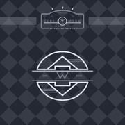 modern insignia vintage label - stock illustration