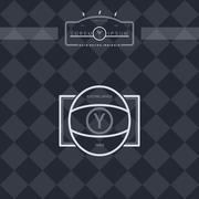 Stock Illustration of modern insignia vintage label
