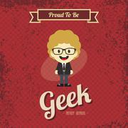 Stock Illustration of genius geek retro cartoon