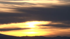 Sunny Morning Clouds Over Ridge Time Lapse - stock footage