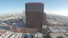 City Office Building Aerial 4 Stock Footage