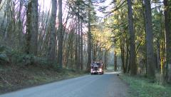 Logging Truck in Oregon Forest Stock Footage