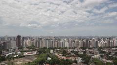 4K time lape aerial view Curitiba Skyline Stock Footage