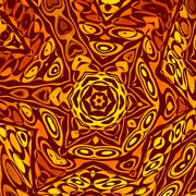 Abstract Background or Wallpaper Pattern. Creative Henna or Mehendi Decoration. - stock illustration