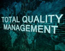 Total Quality Management - stock illustration