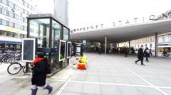Walking in the area around Norreport station in Copenhagen Stock Footage