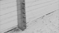 The barbed wire fence Stock Footage