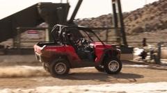 4 Wheeling ATV UTV in the Desert Stock Footage