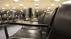 Empty seats at the airport 3 Stock Footage