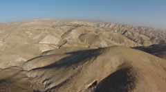 aerial view of Judea Desert Israel - stock footage