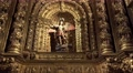 4k Church Jesuit college Funchal archangel figure zoom Footage