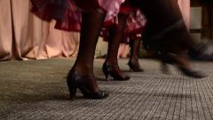 Cancan dance - stock footage