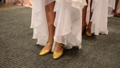 Female dancers legs in a dress Stock Footage