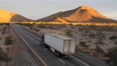 Desert – Highway 4 Sunset / Dusk Stock Footage