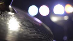 Hi-hat, hi hat, hihat drums - stock footage