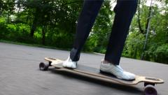 Longboard Skating Stock Footage