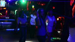 People dancing in nightclub Stock Footage