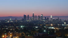 Morning to Day Timelapse Los Angeles Stock Footage