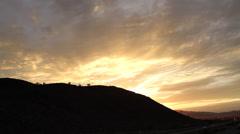 Desert – Highway 5 Sunset / Dusk Stock Footage