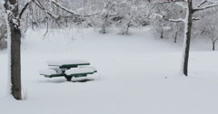 4K, Winter landscape in upstate NY - stock footage