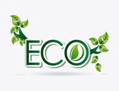 Stock Illustration of eco friendly design, vector illustration eps10 graphic