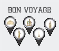 Stock Illustration of bon voyage design, vector illustration eps10 graphic