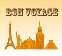 bon voyage design, vector illustration eps10 graphic - stock illustration
