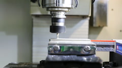Lathe, CNC milling machine  working Stock Footage