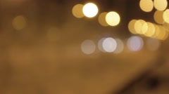 Lights Bokeh FX #8 - Road - stock footage