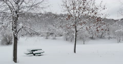 4K, Winter landscape in upstate NY, 2014 - stock footage