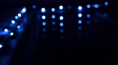 Defocused Abstract Blue Bokeh Lights Stock Footage