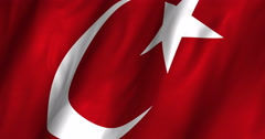 Turkey Waving Flag-4K Stock Footage