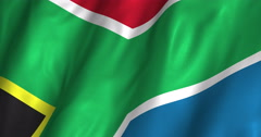 South Africa Waving Flag-4K Stock Footage