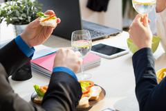 Close-up of sandwiches Stock Photos