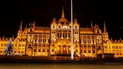 Budapest - Parliament building (hyperlapse) Stock Footage