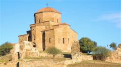 Jvari Monastery in Mtskheta, Georgia Stock Footage