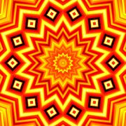 Yellow-red star kaleidoscope background Stock Illustration