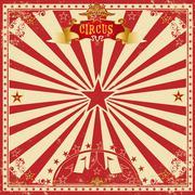 Circus grunge greeting card - stock illustration
