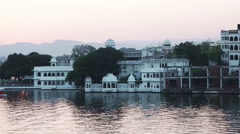 Passenger boat in Lake Pichola Stock Footage