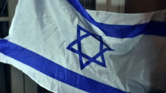 Israel israeli flag Stock Footage