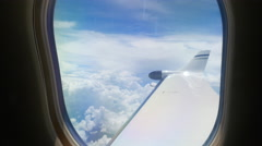 View from Passenger Window of Jet Airplane - stock footage