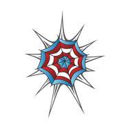 Stock Illustration of color spiderweb art