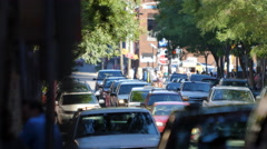 Crowd Street Nashville 2nd Avenue Shallow Depth Stock Footage