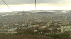 Cableway in Pyatigorsk, Stavropol Krai, Russia, Full HD Stock Footage