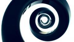 Big black shiny spiral. Stock Footage