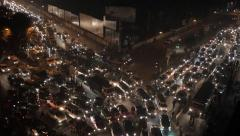 Traffic jam in the streets of Dhaka. Stock Footage