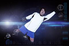 Composite image of goal keeper Stock Illustration