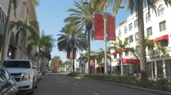 Luxe Rodeo Drive Hotel in the afternoon, California Stock Footage