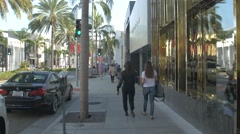 Afternoon walk on the Rode Drive, California Stock Footage