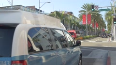 Afternoon on Rodeo Drive, Beverly Hills Stock Footage